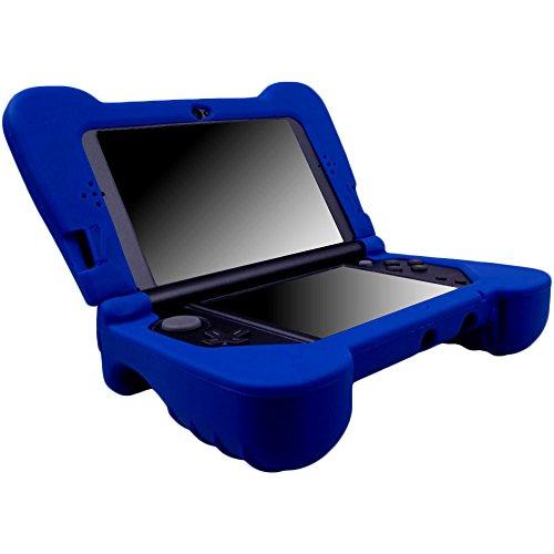 Pandaren® Silikon handgriff Schutzhülle für NEW 3DS XL Blau (nicht für alte Version 3DS XL)