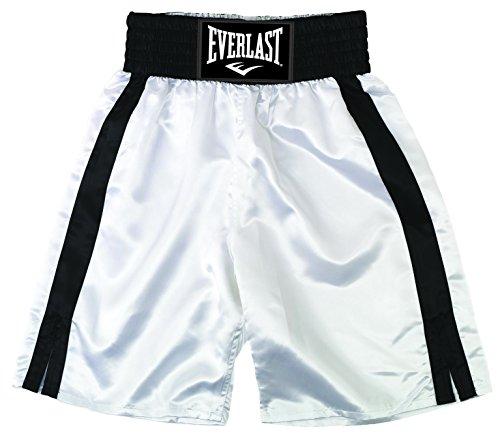 Everlast Pro 24` - Pantalones de boxeo, color Blanco/Negro,
