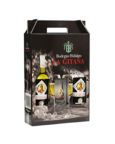 Pack 2 Botellas Manzanilla La Gitana 75 Cl. + 2 Catavinos