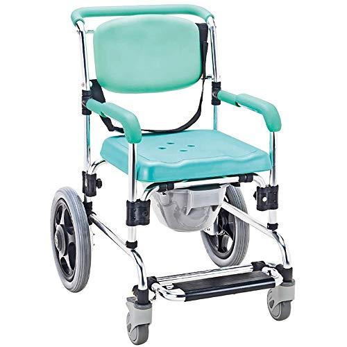 Toiletstoel Commode Seat, Multifunctionele 3-in-1 opvouwbare rolstoel, in hoogte verstelbaar toilet Stand, for ouderen, mensen met een handicap en personen met beperkte mobiliteit