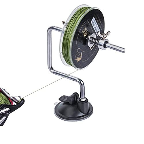 KRAKEN FISHING Support pour Bobine de Fil de pêche. Enrouleur conçu pour remplir Vos moulinets avec des bobines de Tresse et de Nylon Facilement. Accessoires pour Moulinet Casting et Spinning.