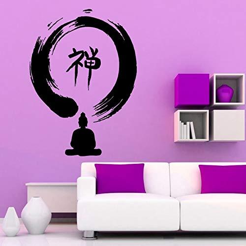 Tianpengyuanshuai Zen Buddhist Indian Wandaufkleber Home Decoration Abnehmbares Vinyl Wasserdicht80X59cm