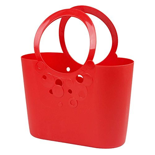 Große XXL Size moderne Handtasche 21 L Picknickkorb rot Griffe Lily Strandtasche Tasche Basket