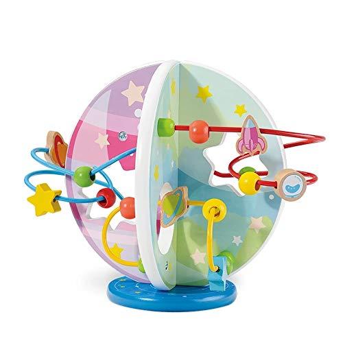 Giochi in Legno Labirinti di Perline per Bambini Labirinto Roller Coaster con Piccolo Perline Giochi Educativi & Giocattolo di Legno,Ordinamento e Impilamento Giocattoli ,Regalo di Compleanno