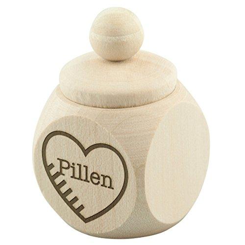 Pillendoos mini pillen tabletten medicijnen houten doos doos doos verpakking geschenk decoratie esdoorn natuur 30 x 50 x 30 mm