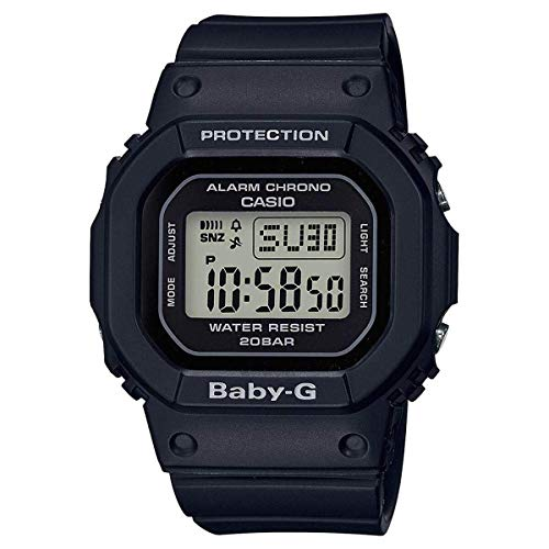 Casio BGD560-1 Women's Baby G Black Resin Strap Digital Watch