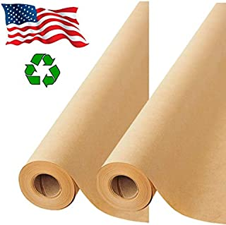 "2 Pack- Brown Kraft Paper Made in USA, Ideal for Gift Wrapping, Art, Craft, Postal, Packing, Shipping, Floor Covering, Dunnage, Parcel, Table Runner 17.75""x2400"" (200 feet)"