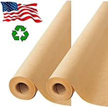 """2 Pack- Brown Kraft Paper Made in USA, Ideal for Gift Wrapping, Art, Craft, Postal, Packing, Shipping, Floor Covering, Dunnage, Parcel, Table Runner 17.75""""x2400"""" (200 feet)"""