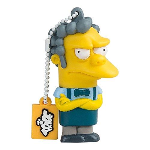 Tribe Simpsons Moe Chiavetta USB da 8 GB Pendrive Memoria USB Flash Drive 2.0 Memory Stick, Idee Regalo Originali, Figurine 3D, Archiviazione Dati USB Gadget in PVC con Portachiavi - Multicolore