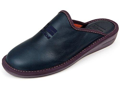 Zapatillas Señora Piel Azul Marino (37)
