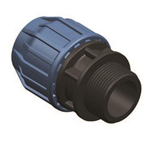 Elysee PP-Fittings 40mm Klemmkupplungen, Winkel, T-Stück, PE-Rohr, Reuduzierungen, Kupplung, Endstopfen, Trinkwasserzertifiziert, DVGW, Größe: Übergang 40-1