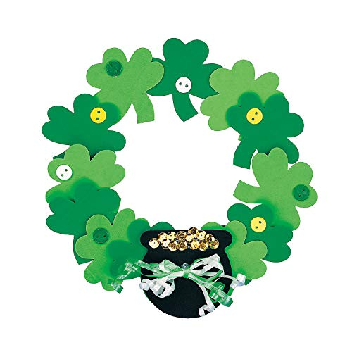 Foam Shamrock Wreath Craft Kit - Crafts for Kids and Fun Home Activities