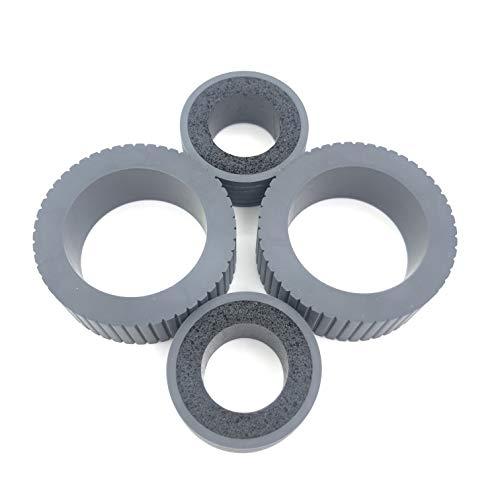OKLILI PA03540-0001 PA03540-0002 Brake and Pick Pickup Roller Tire Kit Compatible with fi-6130 fi-6130Z fi-6140 fi-6140Z fi-6230 fi-6230Z fi-6125 fi-6225 ix500 ix1500 ix1400 ix1600 Photo #2
