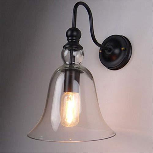 Wandlamp ijzer helder glas klok lampenkap wandlampen 110 V 220 V voor hoofddecoratie Lampadas De Led Casa ZHAOJBDD Mooie wandlamp