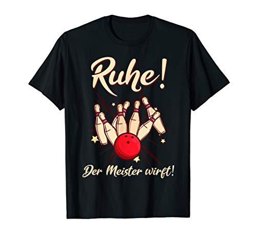 Herren Bowling Bowler Bowlingkugel Der Meister wirft Geschenk T-Shirt