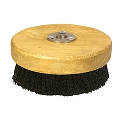 """Discount Car Care Products Carpet and Upholstery Shampoo 5"""" Wood Block Brush for Rotary Buffers - Polishers"""