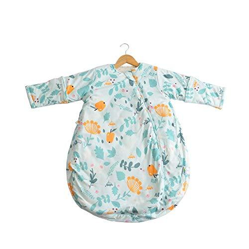 flqwe baby slaapzakken 0-6 maanden, pasgeboren baby beddengoed deken katoen slaapzak, constante temperatuur vier seizoenen baby slaapzak, katoen baby anti-kick quilt-groen-medium_M-70cm