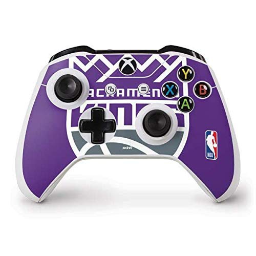 Skinit Decal Gaming Skin Compatible with Xbox One S Controller - Officially Licensed NBA Sacramento Kings Large Logo Design