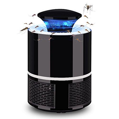 KBEST Lámpara Mosquitos 5W Trampas para Insectos Matamoscas Mata Mosquitos Eléctrico para Proteger a los niños, Mata Insectos con 368NM Luz Ultravioleta USB LED, Sin Productos Químicos,Black