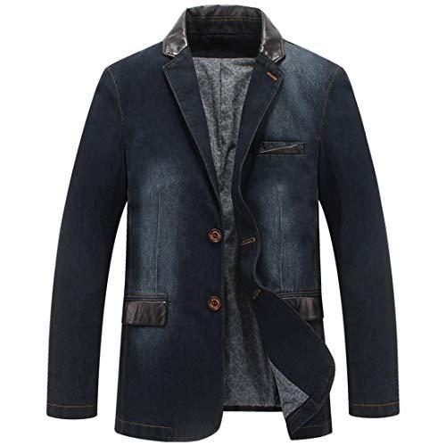 männer mit lässigen Jeans männer zwanglos Sakko Mens Size Single - Mantel,dunkle Cowboy,XL