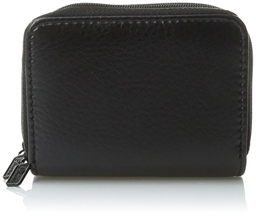Buxton womens Pebble Wizard Wallet, Black, One Size US