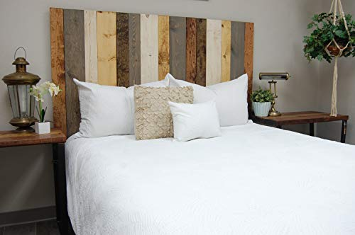 Visit the Rustic Mix Headboard Full Size, Hanger Style, Handcrafted. Mounts on Wall. Easy Installation on Amazon.