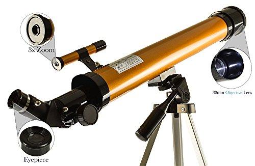 Telescópio Astronômico Refrator Profissional 50/100x Completo GT313 - Lorben