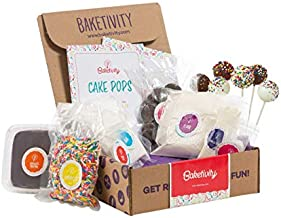 BAKETIVITY Kids Baking DIY Activity Kit - Bake Delicious Cake Pops with Pre-Measured Ingredients – Best Gift Idea for Boys and Girls Ages 6-12