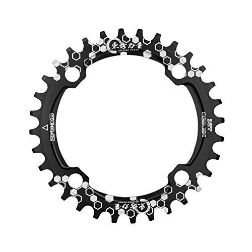 CNC Fahrrad Kettenblatt,32T zähne Kettenblatt ,Aluminium schmal breit Single Kettenblätter,104mm BCD,Schwarz