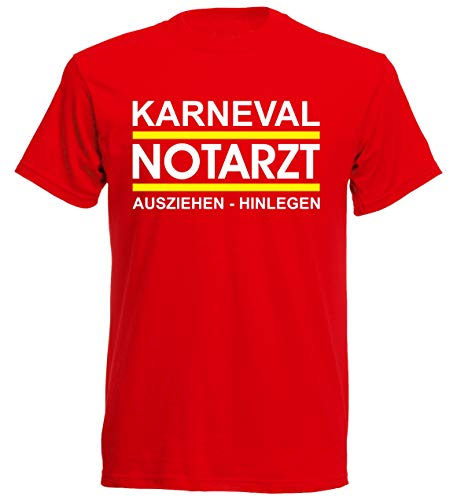 Camiseta de manga corta para disfraz de médico de emergencia, carnaval, disfraz de grupo JGA rojo S