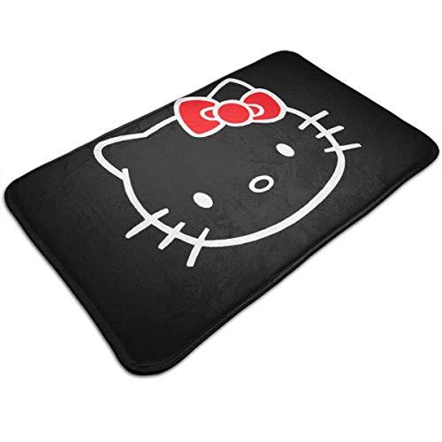 Bienvenido Alfombrillas de entrada Alfombrilla antideslizante Hello Kitty Felpudo y alfombrilla de...