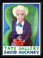 ポスター デビット ホックニー My Mother Bridlington 1988 額装品 ウッドハイグレードフレーム(ブラック)