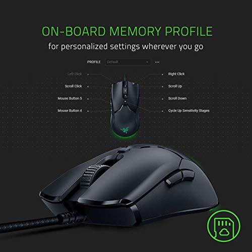 Razer Viper Mini – Ultra light Gaming Mouse (Ultraleichte beidhändige Gamer Maus mit 61g Gewicht, Speedflex-Kabel, optischer 8.500 DPI Sensor und RGB Chroma Beleuchtung) Schwarz - 7
