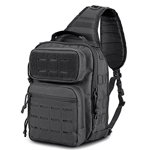WINCENT Tactical Sling Bag Pack Military Rover Shoulder Sling Backpack Molle Assault Range Bag EDC...