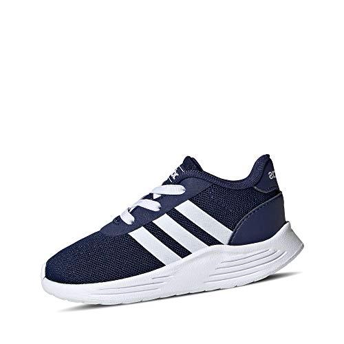 adidas Lite Racer 2.0 I, Scarpe da Ginnastica, Dark Blue/Ftwr White/Core Black, 21 EU