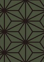 igsticker ポスター ウォールステッカー シール式ステッカー 飾り 841×1189㎜ A0 写真 フォト 壁 インテリア おしゃれ 剥がせる wall sticker poster 004106 チェック・ボーダー 模様 緑