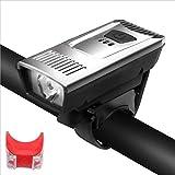 LDH Luces de Bicicletas Impermeables Set USB Recargable Ciclismo Frontal de La Luz Delantera Y de La Luz Trasera Accesorios para Bicicletas Fácil de Instalar con Pantalla (Size : B)