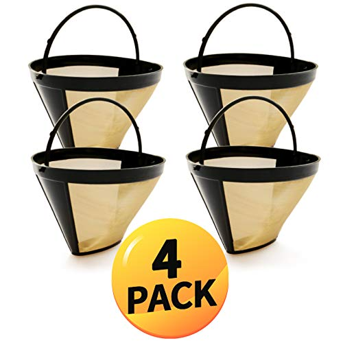 4 Pack Reusable Cone Filter Compatible with all Cuisinart Brewers Filter Permanent