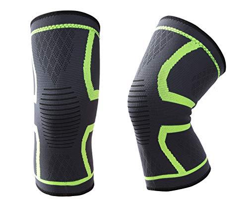 Shinestone Kniebandage, 2 Packungen Kniebandagen Stützen für Laufen, Crossfit, Basketball, Gewichtheben, Fitnessstudio, Training, Sport Kniegelenkschmerzen Prävention