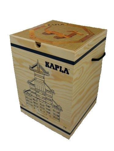 積木・KAPLA(カプラ) カプラ280(白木)+デザインブック(初級・茶) 『並行輸入品』