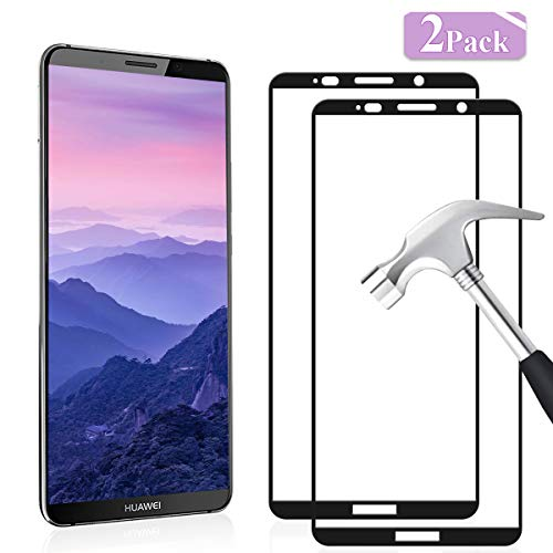 YIEASY 2 Piezas Vidrio Templado para Protector de Pantalla Huawei Mate 10 Pro, dureza 9H Anti-arañazos 0720