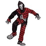 Widmann-Evil Jester Costume per Bambini, Multicolore, (140 cm / 8-10 Anni), 08747...