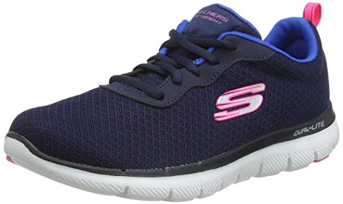 Skechers Women Flex Appeal 2.0 Newsmaker Sneaker, Blue (Navy), 6 UK (39 EU)