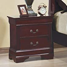 Louis Philippe 2-drawer Nightstand Red Brown