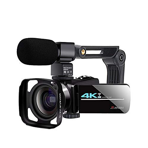 POHOVE Cámara de vídeo videocámara WiFi, 16X Zoom Digital 4K de alta definición, Facebook Live Streaming Webcam Recorder Digital YouTube Vlogging, grabadora de vídeo, negro (tipos:5)