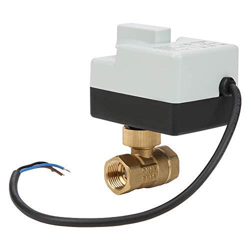 ViewSys DN15 G1 / 2 3-Wire de 2 vías motorizada Válvula de Bola de latón eléctrica for el acondicionador de Aire de AC220V Control de Flujo,
