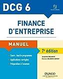 DCG 6 - Finance d'entreprise - 7e éd. - Manuel - Dunod - 18/04/2018