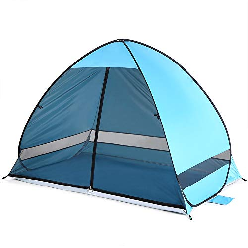 LiChaoWen Automatic Pop Up Beach Tent Outdoor Double Dome Waterproof Ten (Size: One Size; Colour: Green)