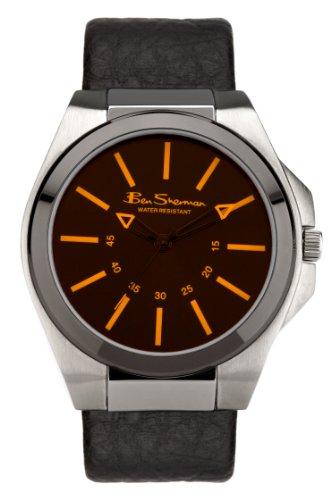 BEN SHERMAN R921 - Orologio da polso uomo, plastica, colore: nero