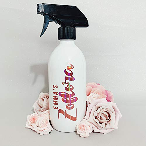 Personalised Zoflora Spray Bottle, Rose Gold. Customise With Any Name! Mrs Hinch Inspired, Hinch Army, Cleaning Spray Bottle. Cleaning Gifts, Gift For Cleaning Addict, Zoflora Addict, Gift For Mum.